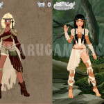 Screenshot of Video Game Avatar Creator V.2 Human Part.1